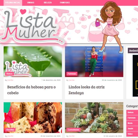 Miniatura do site ListaMulher
